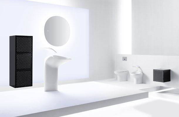 la salle de bains futuriste de vitra inspiration bain. Black Bedroom Furniture Sets. Home Design Ideas