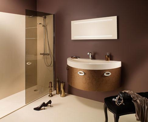 Des meubles de salle de bains tout en rondeur for Salle de bain ambiance