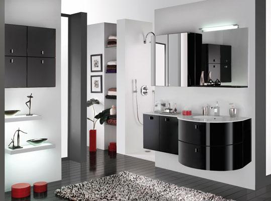 Des meubles de salle de bains tout en rondeur for Meuble salle de bain arrondi
