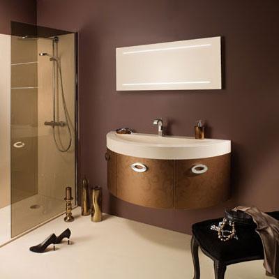 Meubles de salle de bains hauts en couleur inspiration bain - Couleur salle de bain moderne ...