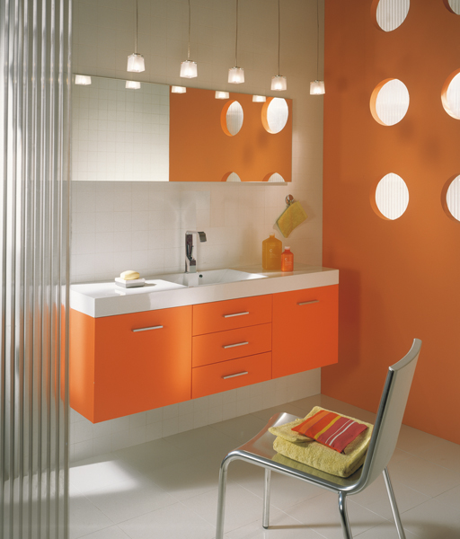 Decotec inspiration bain for Salle bain orange