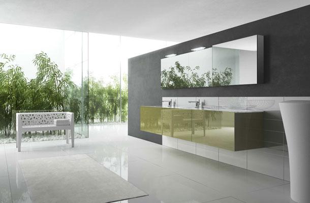 Plan de toilette de salle de bain, plan de toilette en verre