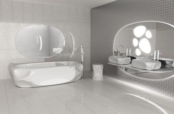 la salle de bains futuriste de karim rashid pour axia inspiration bain. Black Bedroom Furniture Sets. Home Design Ideas