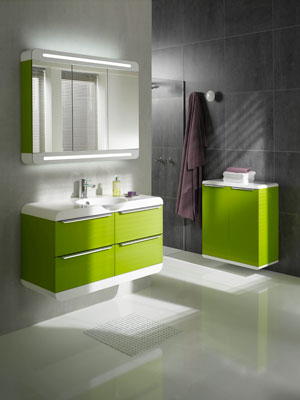 meubles de salle de bains hauts en couleur inspiration bain. Black Bedroom Furniture Sets. Home Design Ideas