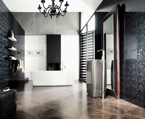 le carrelage chic de porcelanosa inspiration bain. Black Bedroom Furniture Sets. Home Design Ideas