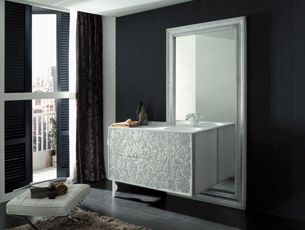 Un meuble de salle de bains sculptural inspiration bain - Meuble de salle de bain style baroque ...