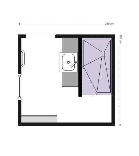 Plan Petite salle de bains