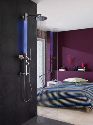 La colonne de douche lumineuse de valentin inspiration bain - Colonne de douche lumineuse ...