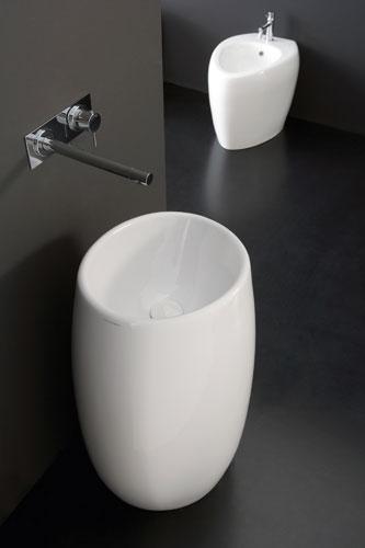 Moai de Scarabeo. Lavabo de salle de bains. Vasque de salle de bains.