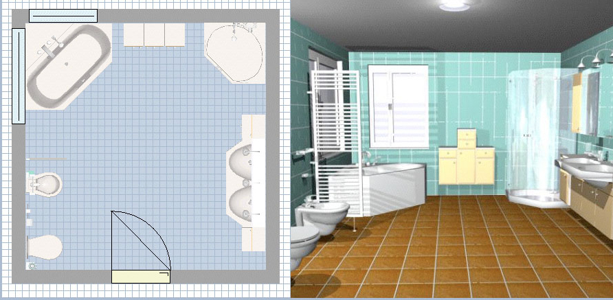 des logiciels pour faire le plan de sa salle de bains en. Black Bedroom Furniture Sets. Home Design Ideas