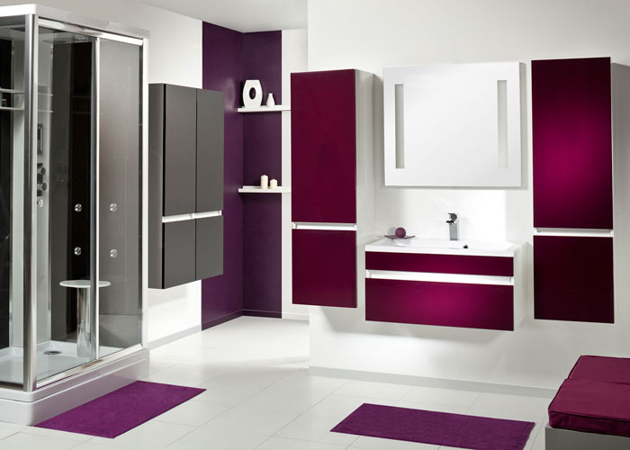 une salle de bains graphique inspiration bain. Black Bedroom Furniture Sets. Home Design Ideas