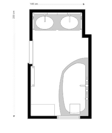 Plan Salle de bains blanche