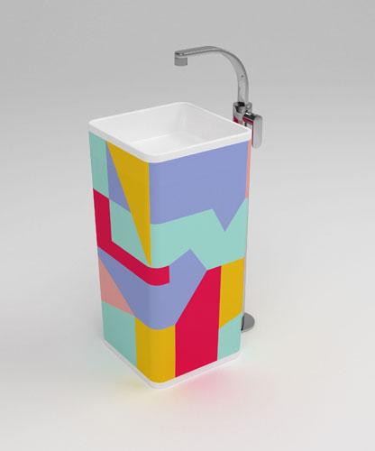 Monowash de Flaminia, vasque, salle de bains couleur