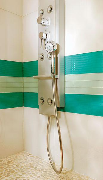 Feeling de Saint-Gobain Glass, le verre dans la salle de bains, carrelage en verre, mosaïque