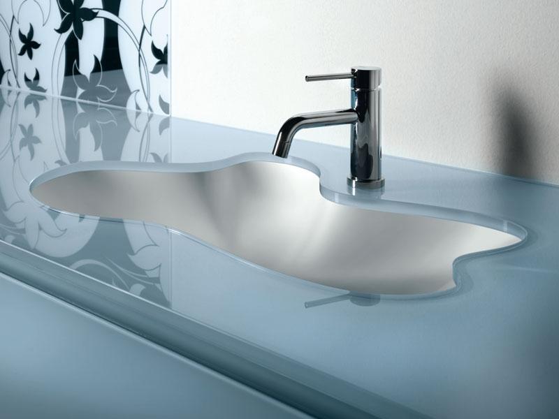 salle de bain vasque verre - Lavabo Salle De Bain En Verre