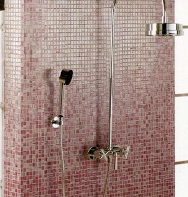 Opiocolor, brique de verre, verre dans la salle de bains