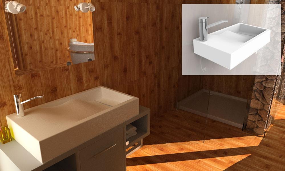 Slalom de Vaskeo, vasques, lavabos