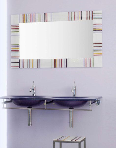 Courant verre, miroir de salle de bains, miroir décoratif