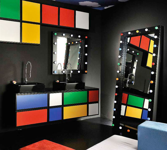 Delpha, miroir de salle de bains, miroir décoratif