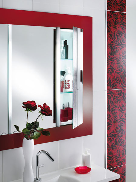 Mobalpa, miroir de salle de bains, miroir de rangement