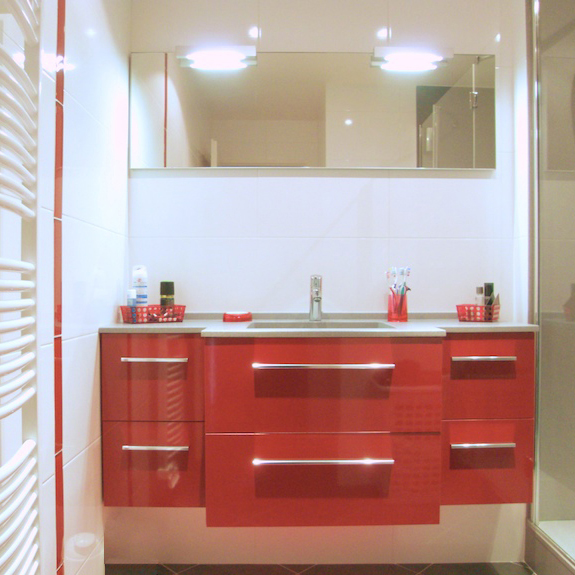 Accessoires salle de bain rouge castorama - Accessoires salle de bain rouge ...