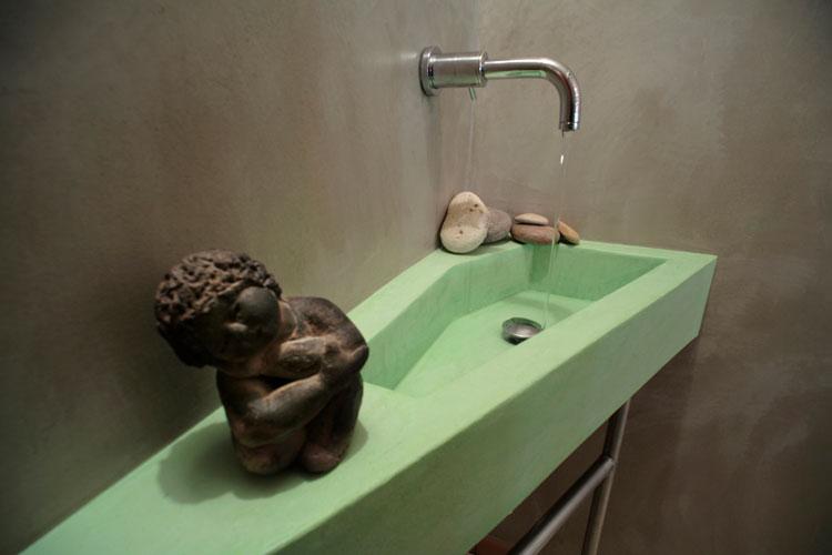 Le charme d\'une salle de bains en béton ciré | Inspiration bain