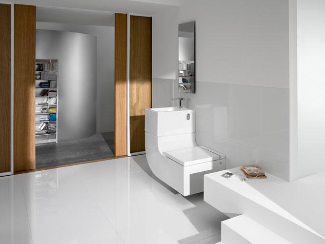un concept tout en un pour petite salle de bains. Black Bedroom Furniture Sets. Home Design Ideas