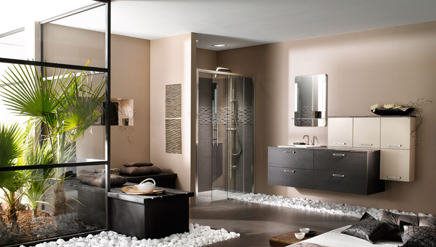 inspiration des salles de bains zen inspiration bain. Black Bedroom Furniture Sets. Home Design Ideas