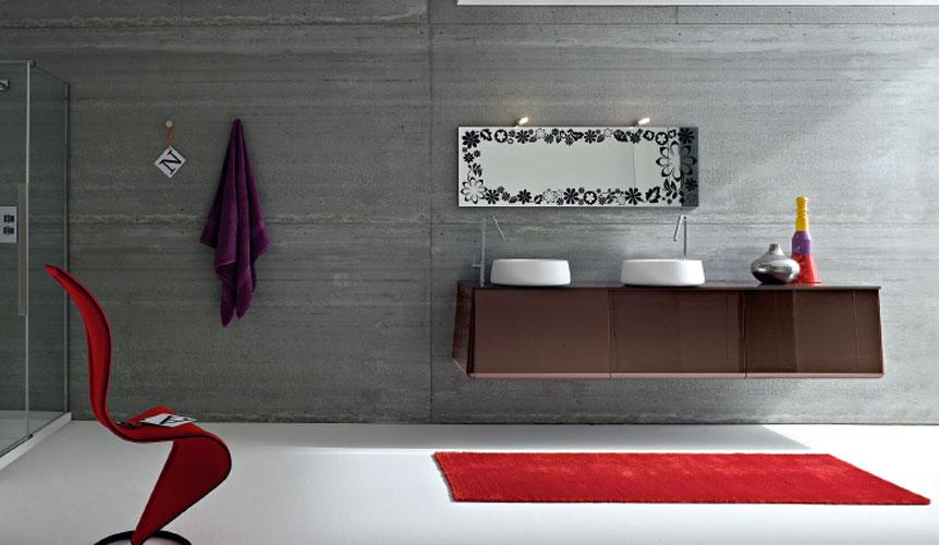 des meubles suspendus pour une salle de bains chic inspiration bain. Black Bedroom Furniture Sets. Home Design Ideas
