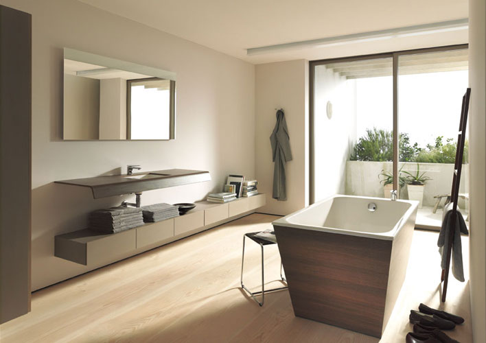 une salle de bains au design in dit inspiration bain. Black Bedroom Furniture Sets. Home Design Ideas