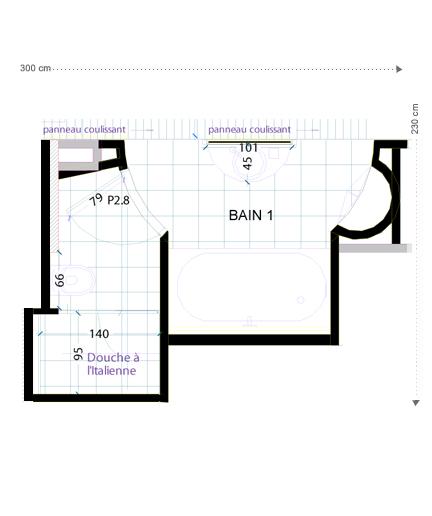 Plan Salle de bains orientale