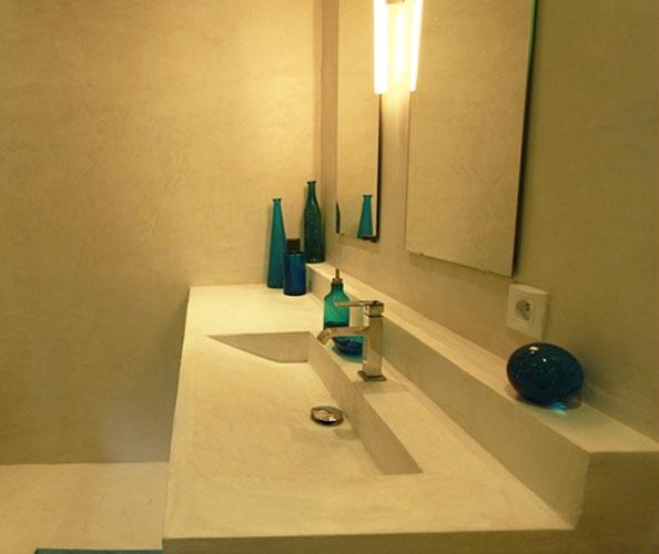 plan de toilette béton ciré