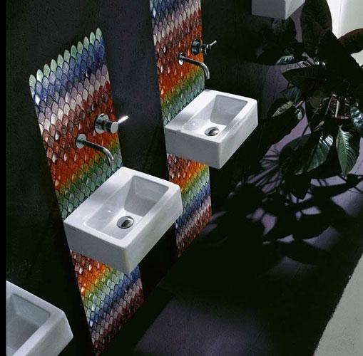 Mosaïque Fiori Rainbow de Vetrovivo-salle de bains