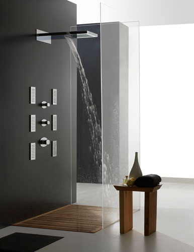 la douche torrentielle inspiration bain. Black Bedroom Furniture Sets. Home Design Ideas