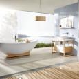 Une salle de bains très nature