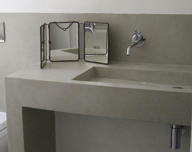Plan de toilette quel mat riau choisir inspiration bain for Plan de travail beton cire salle de bain