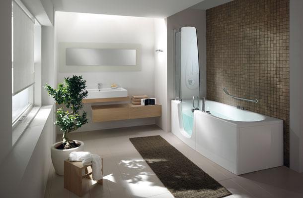 les baignoires douches pratiques et esth tiques inspiration bain. Black Bedroom Furniture Sets. Home Design Ideas