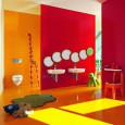 Une salle de bains destinée aux enfants