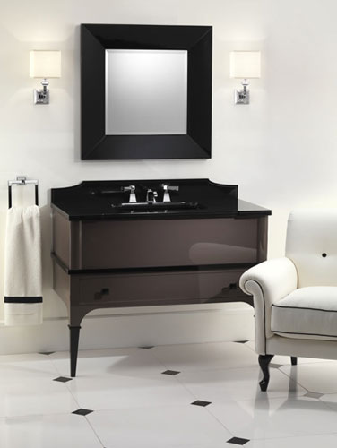 des consoles r tro pour salles de bains l gantes. Black Bedroom Furniture Sets. Home Design Ideas
