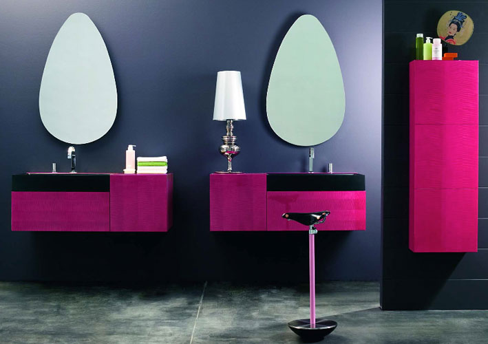 inspiration une salle de bain rose inspiration bain. Black Bedroom Furniture Sets. Home Design Ideas