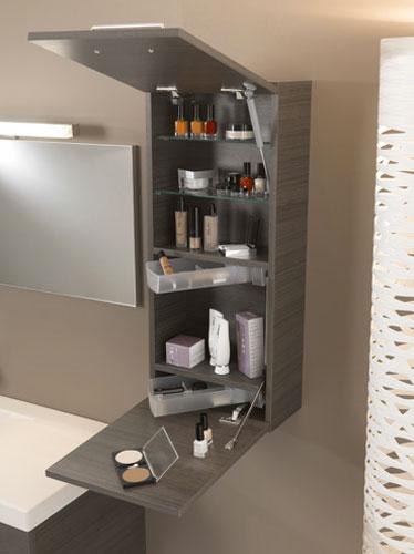 Meuble haut salle de bain profondeur 20 cm - Meuble de salle de bain gain de place ...