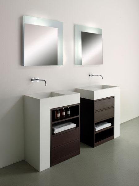 Système Elle. Collection Rapsel pour Sopha industries-rangement salle de bains