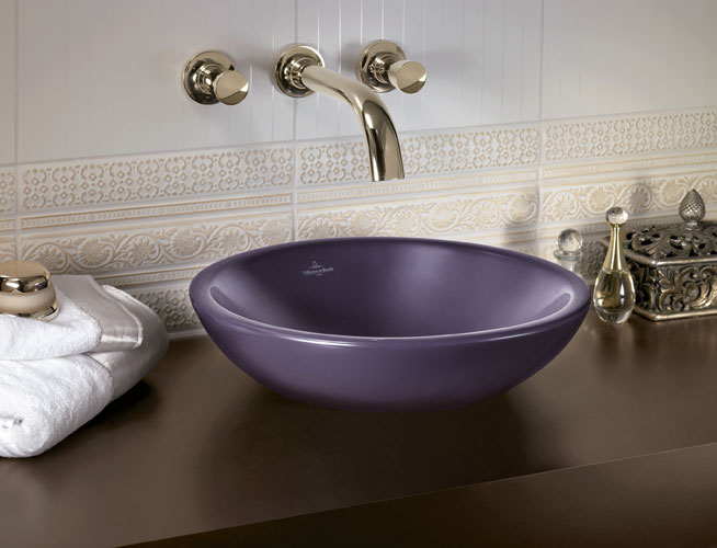 Villeroy & Boch-salle de bains prune