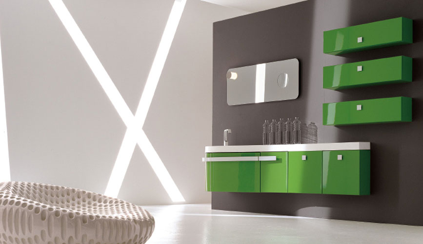 Inspiration une salle de bains verte inspiration bain for Salle de bain vert kaki
