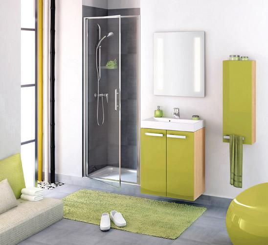 Inspiration une salle de bains verte inspiration bain for Baignoire faible largeur
