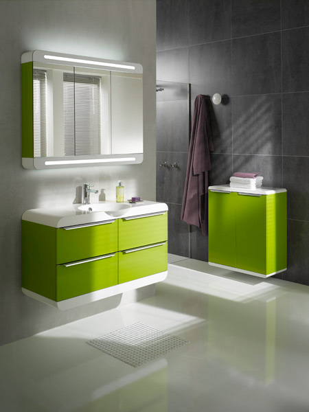 inspiration une salle de bains verte inspiration bain. Black Bedroom Furniture Sets. Home Design Ideas