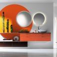 Inspiration : une salle de bains orange