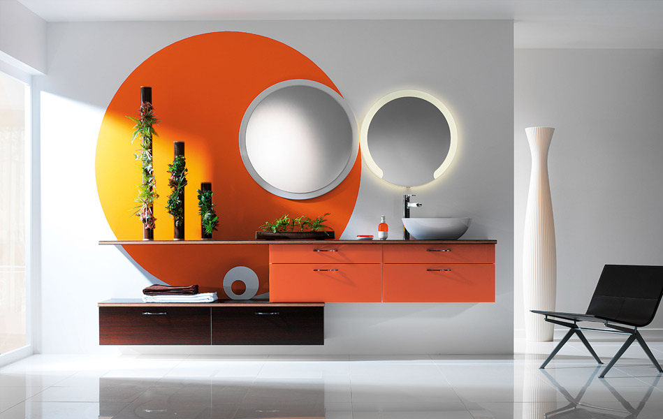 inspiration une salle de bains orange inspiration bain. Black Bedroom Furniture Sets. Home Design Ideas