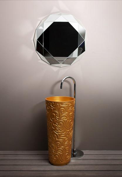 Lavabo WallPaper et miroir Diamant de Regia