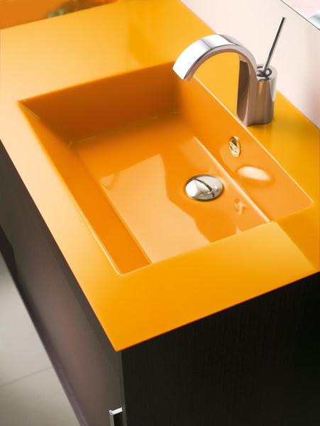 Inspiration : une salle de bains orange | Inspiration bain